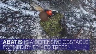 NATO Engineers Build Anti-Tank Tree Obstacles