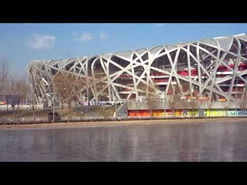 The Beijing Birds Nest Olympic Stadium China