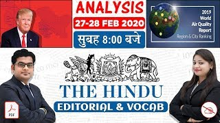 The Hindu Editorial Analysis | By Ankit Mahendras & Yashi Mahendras | 27-28 Feb 2020 | 8:00 AM