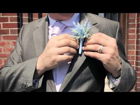Blue Thistle Buttonhole