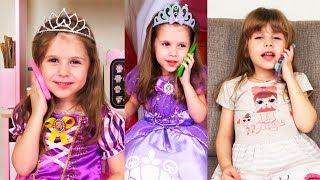 Диснеевские принцессы в сборнике видео для детей. Disney princesses