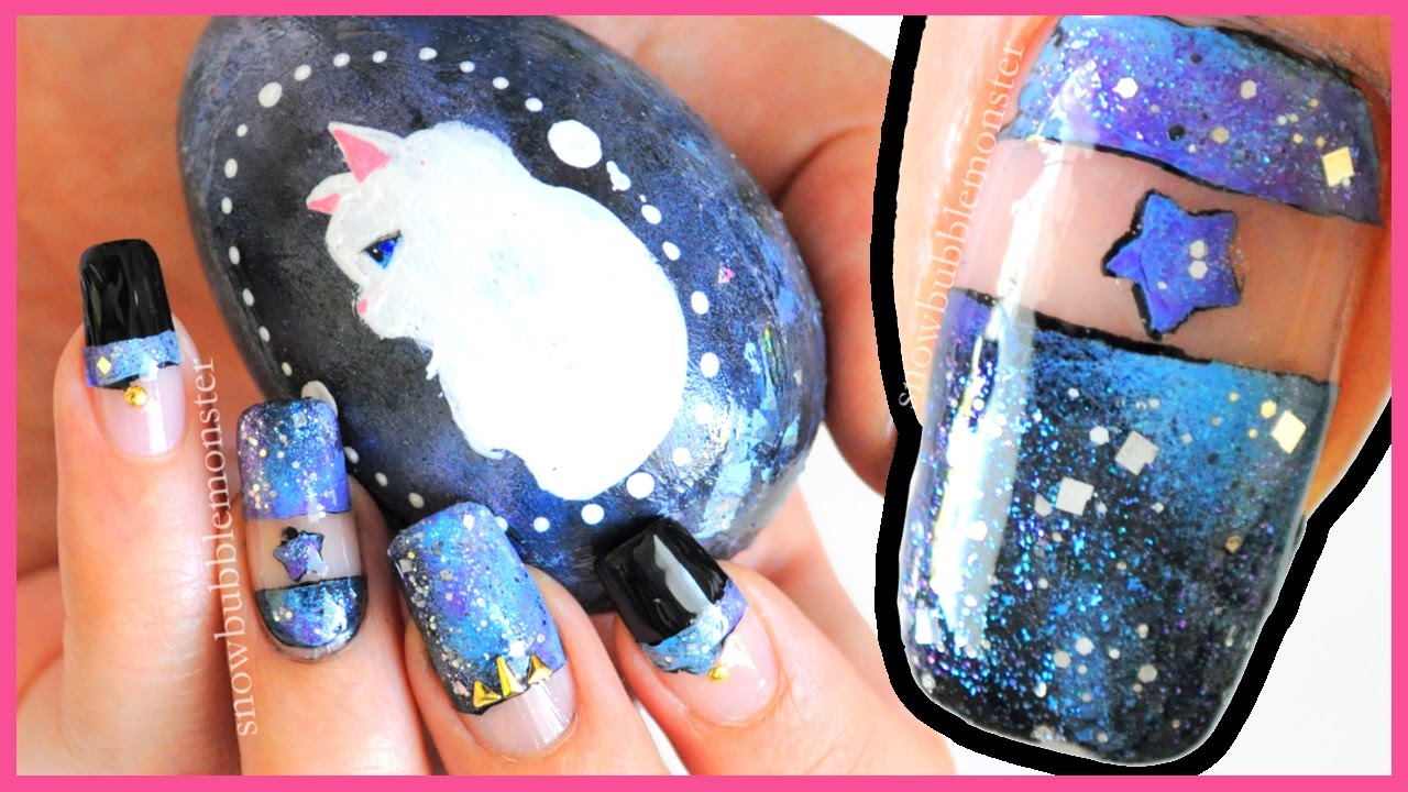 DIY Nail Decal ☆ Galaxy Negative Space Nail Art ☆ [BornPrettyStore ...