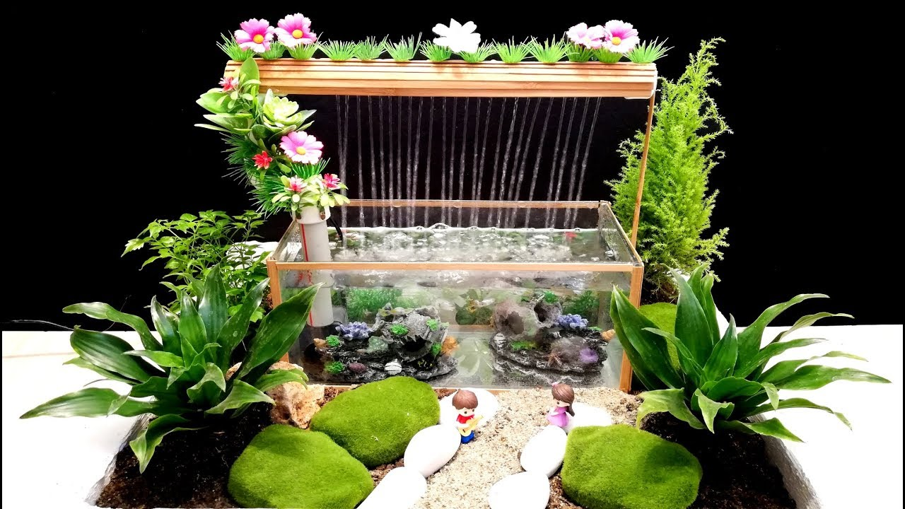 How To Make A Beautiful Aquarium Fountain Using A Pvc Pipe Diy Youtube