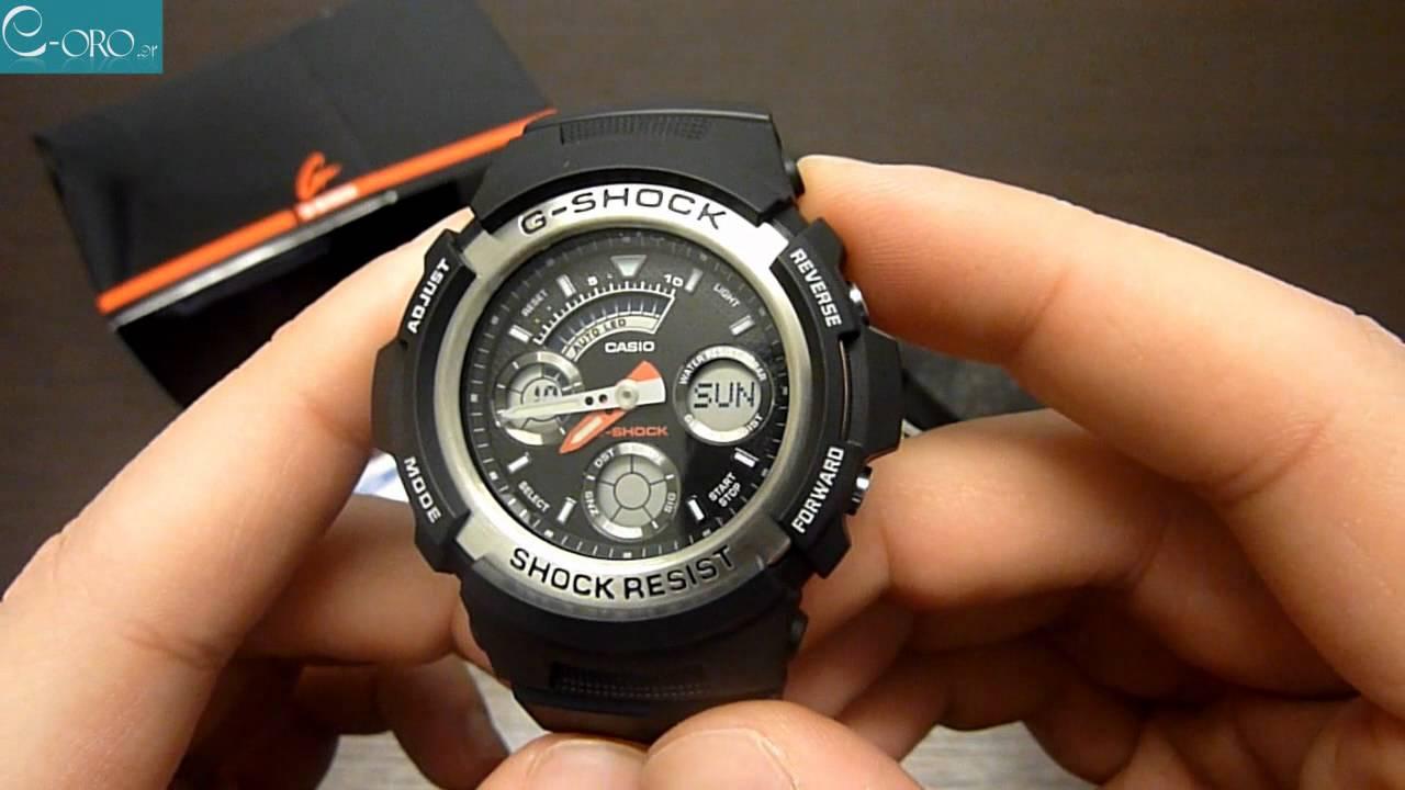 Casio g shock aw 590 инструкция