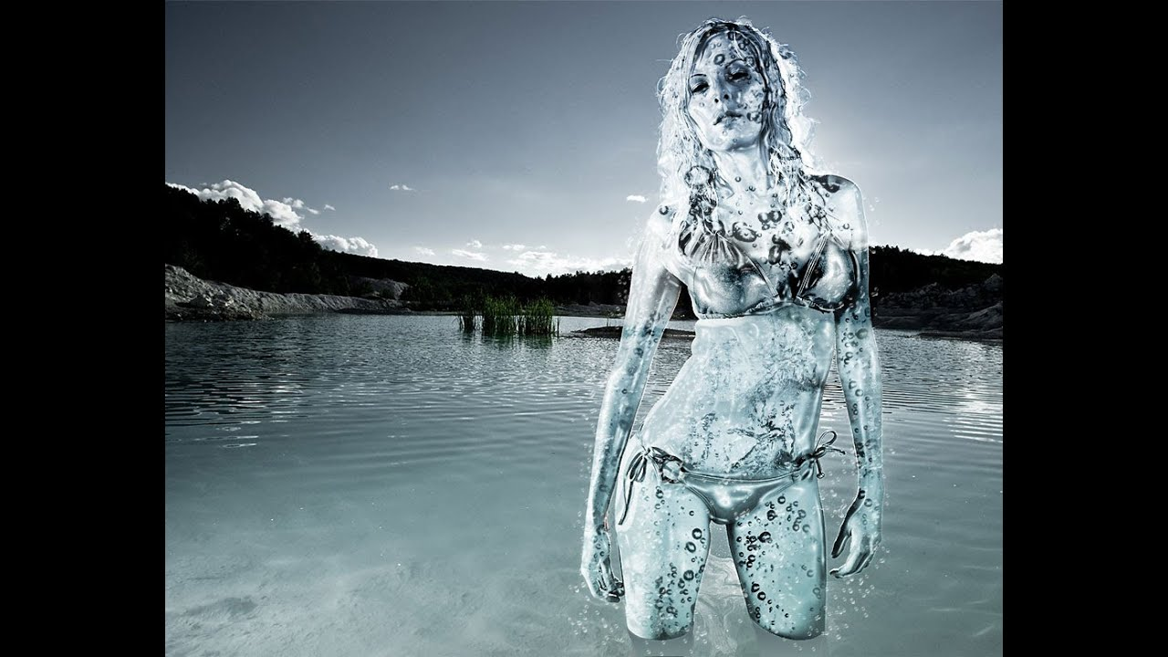 Photoshop CS5 water woman tutorial part 1 - YouTube