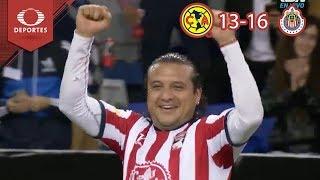 Fiesta de goles | América 13-16 Chivas | Juego de Leyendas | Televisa Deportes