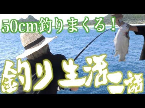 【50cmサイズ釣れまくり】所持金0円で釣り生活 2話【伊是名島編】