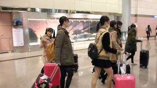 橋本環奈在桃園機場第二航廈.