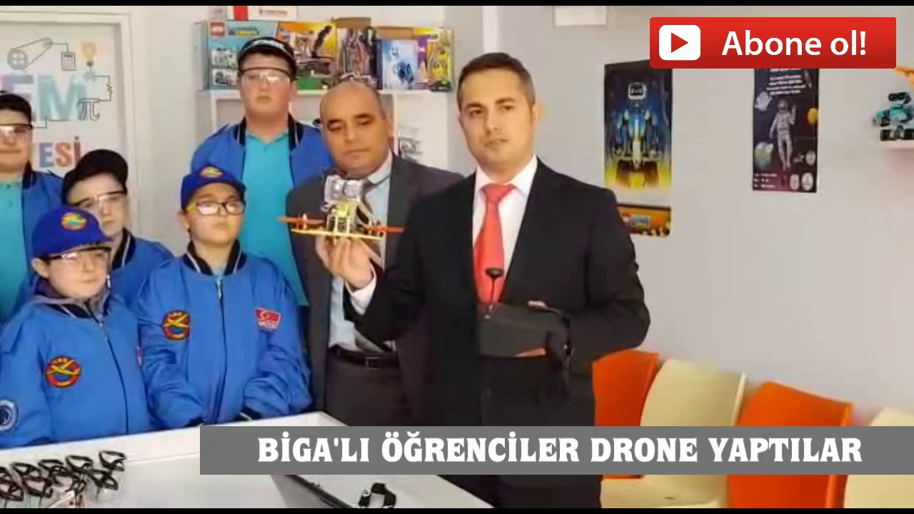06.01.2019 pazar, Karlı havada Biga drone görüntüleri