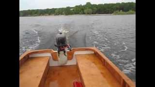 Самодельная лодка и мотор HDX F 5 BMS(Мотор на обкатке - только 50% открытия заслонки. Лодку делал сам. Из фанеры ФСФ 6 мм. Длина 3,5 м, ширина 1,5 м., 2013-07-19T12:01:08.000Z)