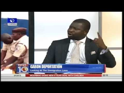 Jonathan Aluju on 'Gabon Deports Nigerians Over Illegal Migration' on  Channelstv News @10