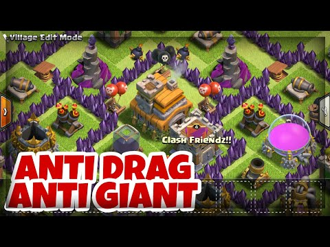 BEST TH7 WAR BASE - ANTI DRAG | ANTI GIANT ✔ Town Hall 7 Trophy Base Layout - Clash of Clans