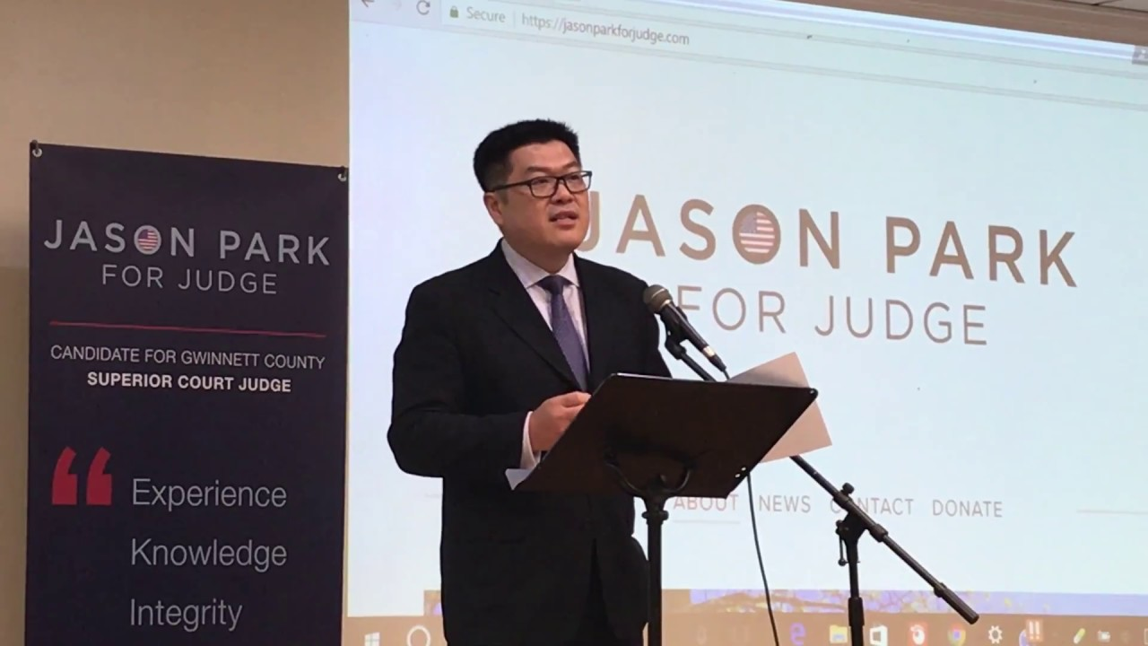 Jason Park running for Gwinnett County Superior Court Georgia
