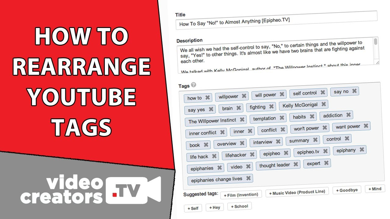 How To Rearrange Youtube Tags Youtube