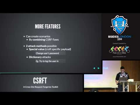 Paul Amar: CSRFT, A Toolkit for CSRF Vunerabilities
