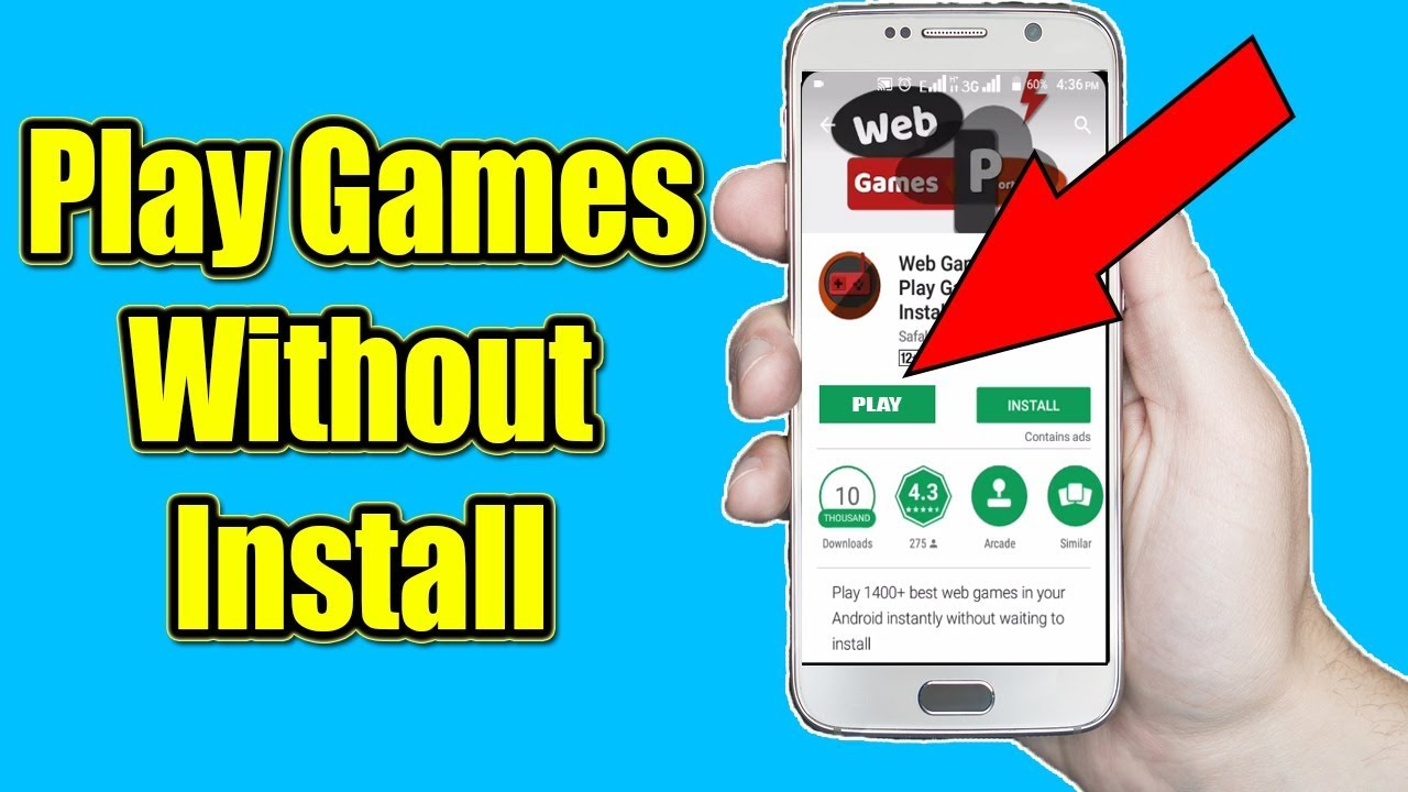 How To Play Any Games Without Installing On Android Youtube