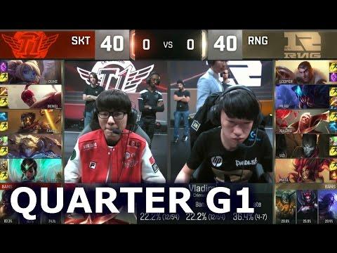 SKT vs RNG - Game 1 Quarter Finals Worlds 2016 | LoL S6 World Championship SK Telecom T1 vs RNG G1
