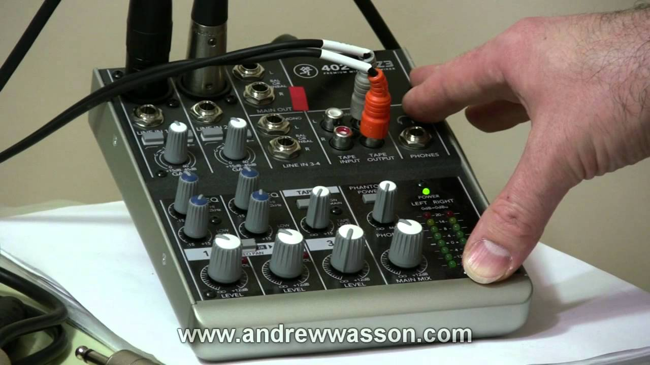Basic Home Recording Mic Mixer Set Up Youtube Stereo For Microphone With 2 Channels