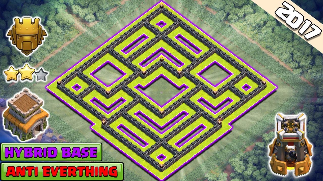 Th8 Hybrid Base 2017 Trophy Farming Clash Of Clans You