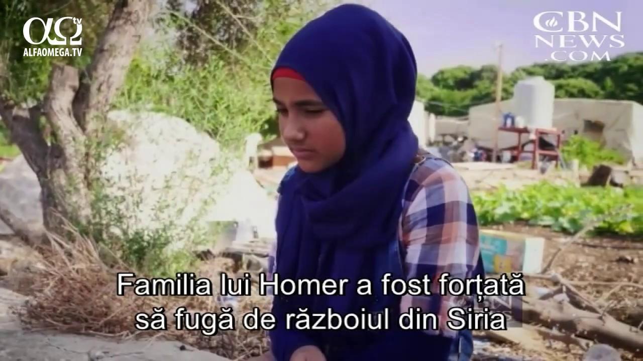 O lucrare crestina vine in ajutorul unei familii siriene refugiate aflate in criza