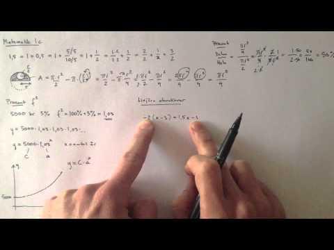 Matematik 1c på 28 minuter