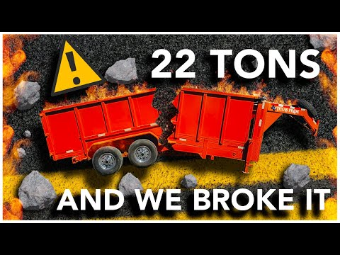22 TONS AND WE BROKE IT | FIELD Testing Different Dump Trailers + 3 FREE DUMP TRAILERS | GIVEAWAY
