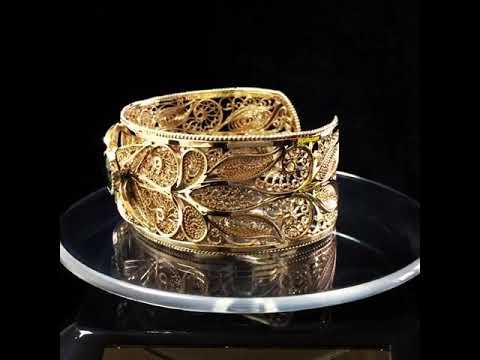 Филигранный золотой браслет. Смотреть в качестве!