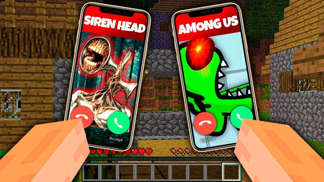 AMONG US AND CARTOON CAT CALLED ME AT 3AM in Minecraft Impostor Among Us Exe Choose Wrong Phone
