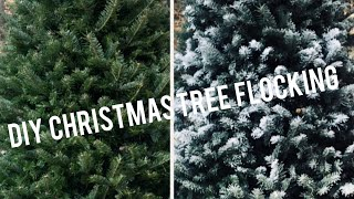 HOW TO FLOCK A REAL CHRISTMAS TREE | DIY | SNOWY CHRISTMAS TREE | SNOW FLOCK TUTORIAL