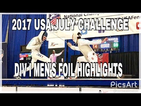 2017 July Challenge: Division I Men's Foil Highlights