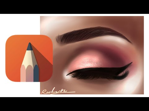 How To Draw /Auto Desk Sketchbook/auto Desk/tutorial/speed Paint/eye Tutorial/tutorial