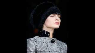 видео Модные вязаные шапки зимой 2015 — 2016