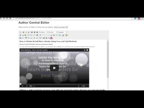 How to Add a Video to Amazon Kindle Book Description  – using Author Central