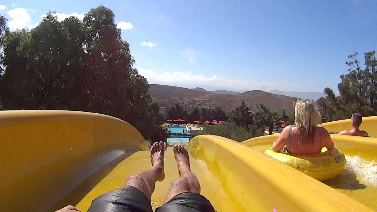 hyper yellow water slide at watercity