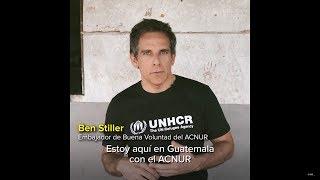 Ben Stiller se reúne con una mujer refugiada en Guatemala