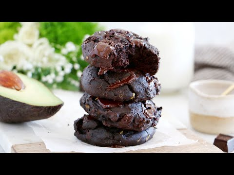 Healthy Double Chocolate Avocado Cookies (sugar and dairy free + a vegan version)