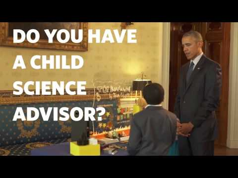 President Obama Meets With His Kid Science Advisors