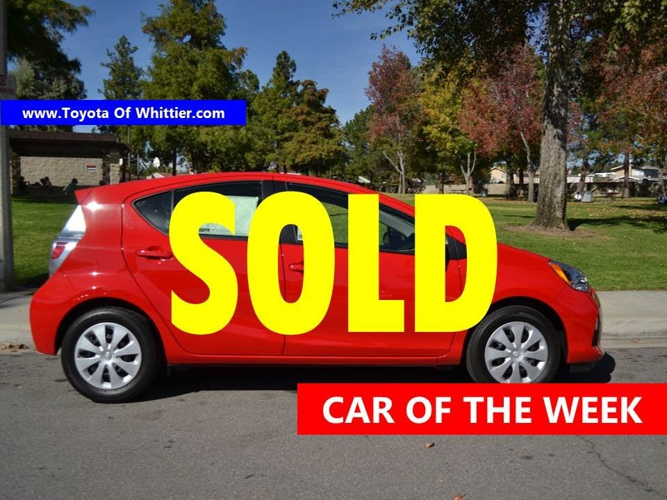 Toyota Of Whittier Car Of The Week Toyota Prius C Red Lease - Toyota prius lease deals los angeles