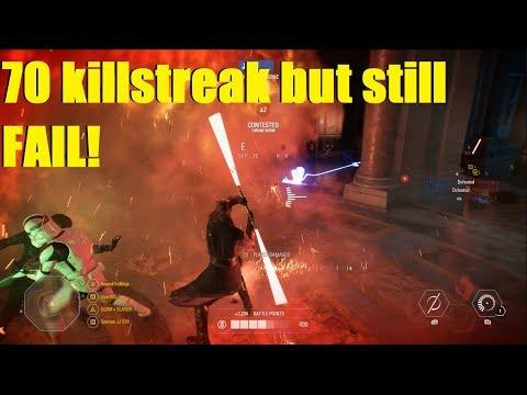 Star Wars Battlefront 2 - 70+ Killstreak And Not Even 100 Eliminations XD Darth Maul Killstreak