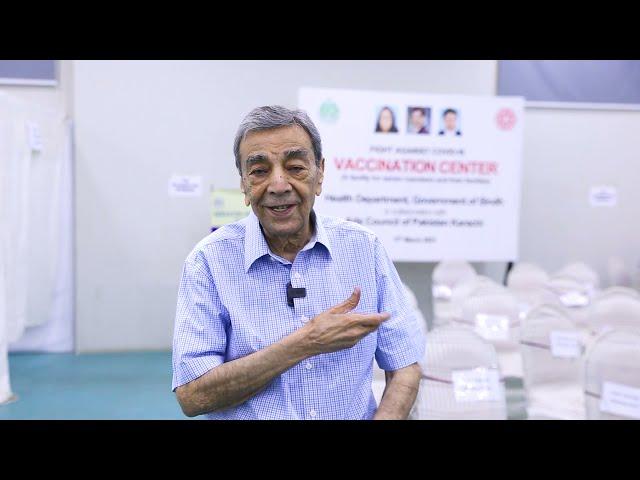 Zia Mohyeddin | Covid-19 Vaccination Center | Arts Council Karachi #acpkhi #artscouncil #covid_19