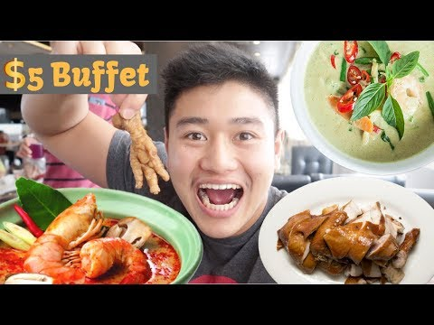 THE CHEAPEST Thai Lunch Buffet! | Hatyai, Thailand