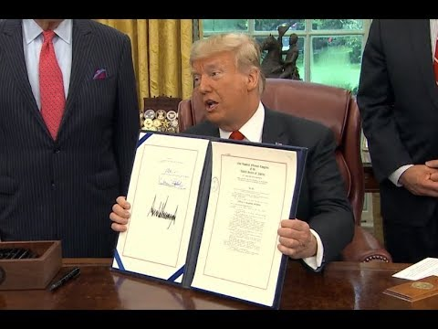 President Donald Trump Signs the most CRUCIAL Bill of his Presidency into Law at The White House