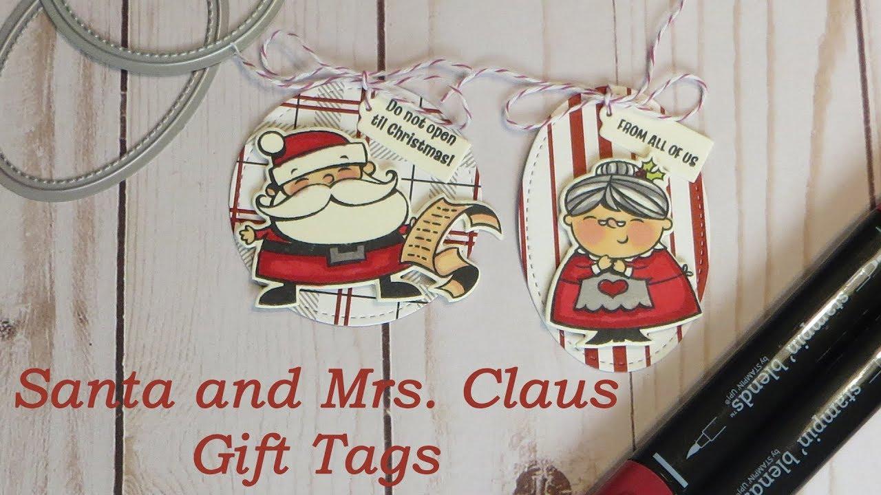 Santa and Mrs. Claus Christmas Gift Tags Tutorial - Signs of Santa ...
