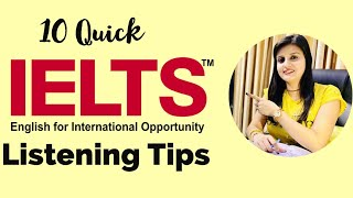 10 Quick IELTS Listening Tips to score good bands. Must watch if you are a beginner.