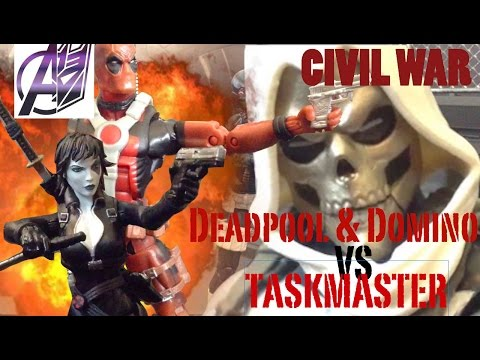 Deadpool Stop Motion- [Deadpool & Domino vs Taskmaster]