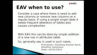 Seminar on EAV Data Model