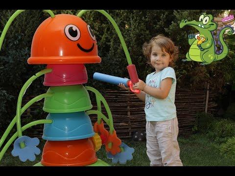 Гусеница фонтанчик охраняет сюрпризы kinder surprise шопкинс 4 миньоны 2016