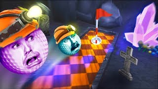 Golfing in a Haunted Mineshaft! | Golf It [Ep 18]