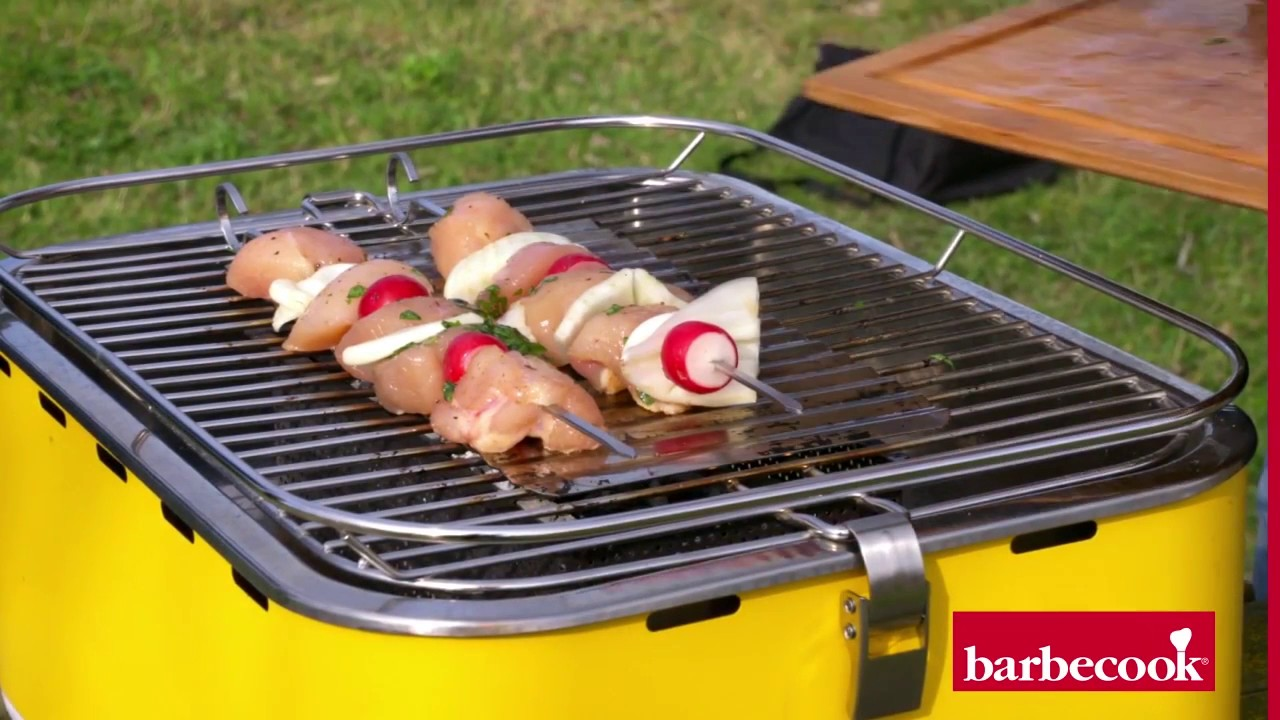Barbecook Holzkohlegrill Carlo Test : Le barbecue portable carlo barbecook et ses brochettes de poulet