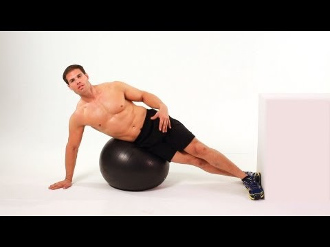 How to Do Side Crunch on Exercise Ball  Ab Workout